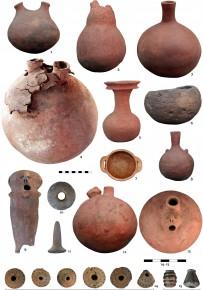 Fotografías de los restos arqueológicos hallados en el desierto deAtacama