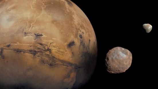 Marte phobos deimos